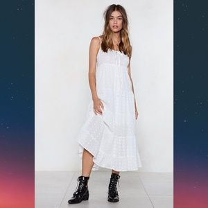 Threads or Tails Broderie Layered Midi Dress